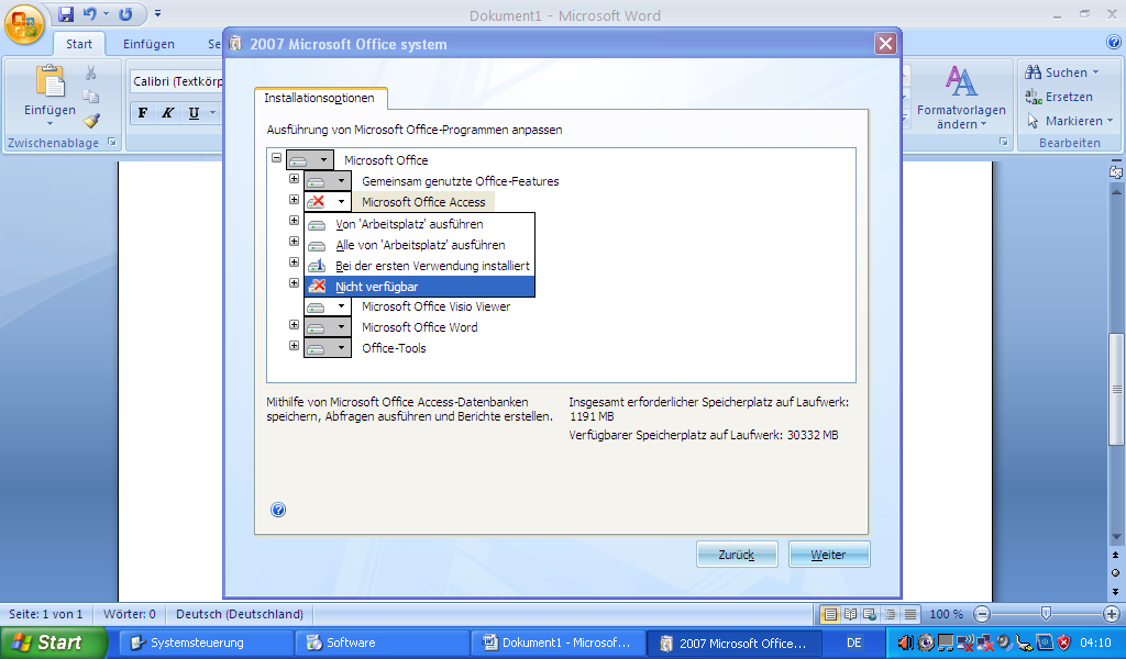 Software Deinstallation